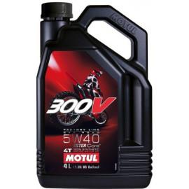 Масло для мотоцикла Motul 300V 4T FL Off Road 5W-40 4L