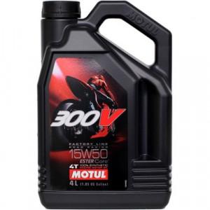 Масло для мотоцикла Motul 300V 4T FL Road Racing 15W-50 4L