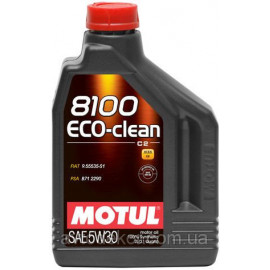 Масло Motul 8100 Eco-clean 5W-30 (C2) 2L